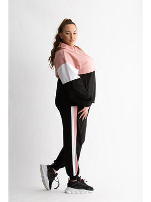 Haine de vis Trening Mixted Pink Plus Size
