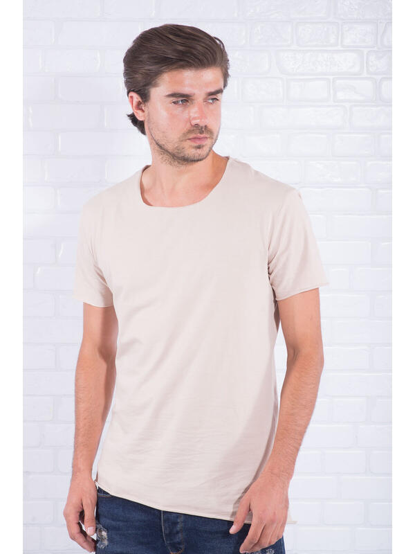 Haine de vis Tricou Barbat Simple Bej