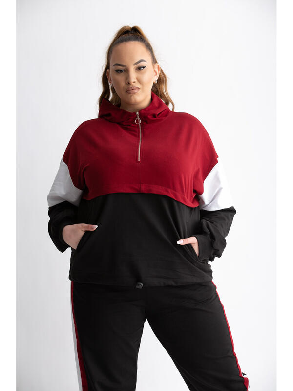 Haine de vis Trening Mixted Grena Plus Size